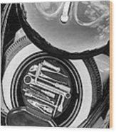1949 Volkswagen Vw Hebmuller Cabriolet Tool Kit -0278bw Wood Print