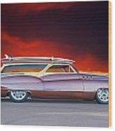 1950 Buick Woody Wagon X Wood Print