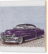 Chopped 1950 Cadillac Coupe De Ville Wood Print