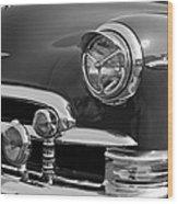 1950 Chevrolet Deluxe Head Lights Wood Print