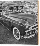1950 Chevrolet Sedan Deluxe Painted Bw   Wood Print