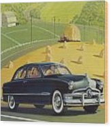 1950 Custom Ford - Square Format Image Picture Wood Print