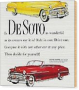 1950 - De Soto Sportsman Convertible - Advertisement - Color Wood Print