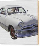 1950 Ford Custom Antique Car Wood Print