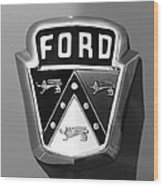 1950 Ford Custom Deluxe Station Wagon Emblem Wood Print by Jill Reger