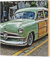 1950 Ford Deluxe Woody Station Wagon Wood Print