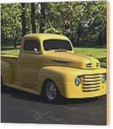 1950 Ford F1 Pickup Truck Wood Print