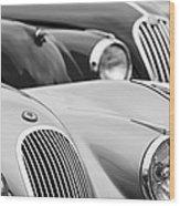 1950 Jaguar Xk120 Roadster Grille 2 Wood Print by Jill Reger