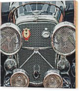 1950 Jaguar Xk120 Roadster Grille Wood Print