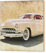 1950 Mercury Grunge Wood Print