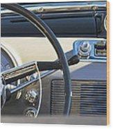 1950 Oldsmobile Rocket 88 Steering Wheel 3 Wood Print by Jill Reger