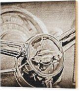 1950 Oldsmobile Rocket 88 Steering Wheel Emblem Wood Print