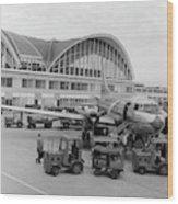 1950s 1960s Propeller Airplane Wood Print