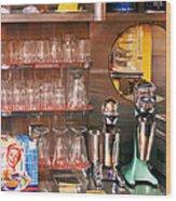 1950's - Diner - A 1950's Diner Wood Print