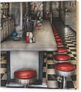 1950's - The Ice Cream Parlor  Wood Print