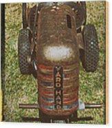 1950s Yard Hand Tractor Wood Print