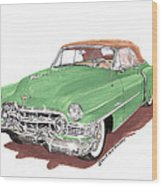 1951 Cadillac Series 62 Convertible Wood Print