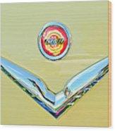 1951 Chrysler New Yorker Convertible Emblem Wood Print by Jill Reger
