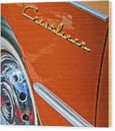 1951 Ford Crestliner Emblem - Wheel Wood Print