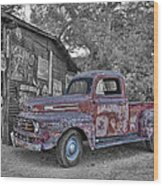 1951 Ford F-1 Wood Print by Robert Jensen