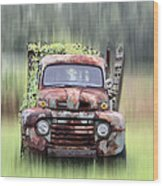 1951 Ford Truck - Found On Road Dead Wood Print