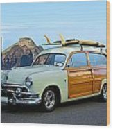 1951 Ford 'woody' Wagon Wood Print