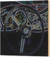 1951 Mg Td Dashboard_neon Car Art Wood Print
