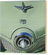 1951 Studebaker Commander Hood Ornament 2 Wood Print