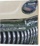 1952 Buick Eight Grill Wood Print