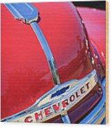 1952 Chevrolet Suburban Hood Ornament Wood Print
