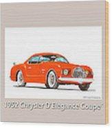 1952 Chrysler Delegance Concept Wood Print by Jack Pumphrey
