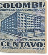 1952 Columbian Stamp Wood Print