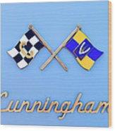 1952 Cunningham C-3 Vignale Cabriolet Emblem Wood Print