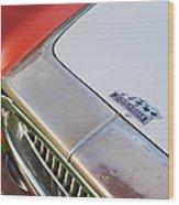 1952 Cunningham C-3 Vignale Cabriolet Grille - Hood Emblem Wood Print