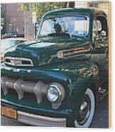 1952  Ford Pick Up Truck Front And Side View Wood Print