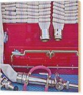 1952 L Model Mack Pumper Fire Truck Hoses Wood Print