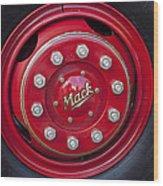 1952 L Model Mack Pumper Fire Truck Wheel Wood Print
