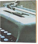 1952 Olivetti Typewriter Wood Print by Georgia Fowler