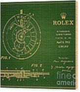 1952 Rolex Calendar Timepiece 1 Wood Print