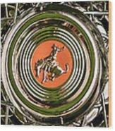 1952 Sterling Gladwin Maverick Sportster Wheel Emblem - 1720c Wood Print