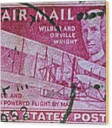 1952 Wright Brothers Stamp Wood Print