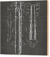 1953 Aerial Missile Patent Gray Wood Print by Nikki Marie Smith