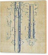 1953 Aerial Missile Patent Vintage Wood Print