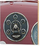 1953 Aston Martin Db2-4 Bertone Roadster Instrument Panel Wood Print