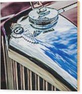 1953 Bentley R-type Hood Ornament - Emblem -0790c Wood Print