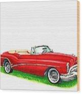 1953 Buick Skylark Convertible Wood Print