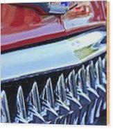 1953 Chevrolet Grille Emblem Wood Print