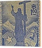 1953 Chile Stamp Wood Print