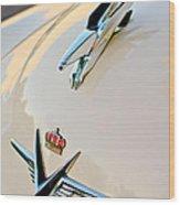 1953 Chrysler Imperial Custom Hood Ornament Wood Print