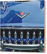 1953 Desoto Firedome Convertible Grille Emblem Wood Print